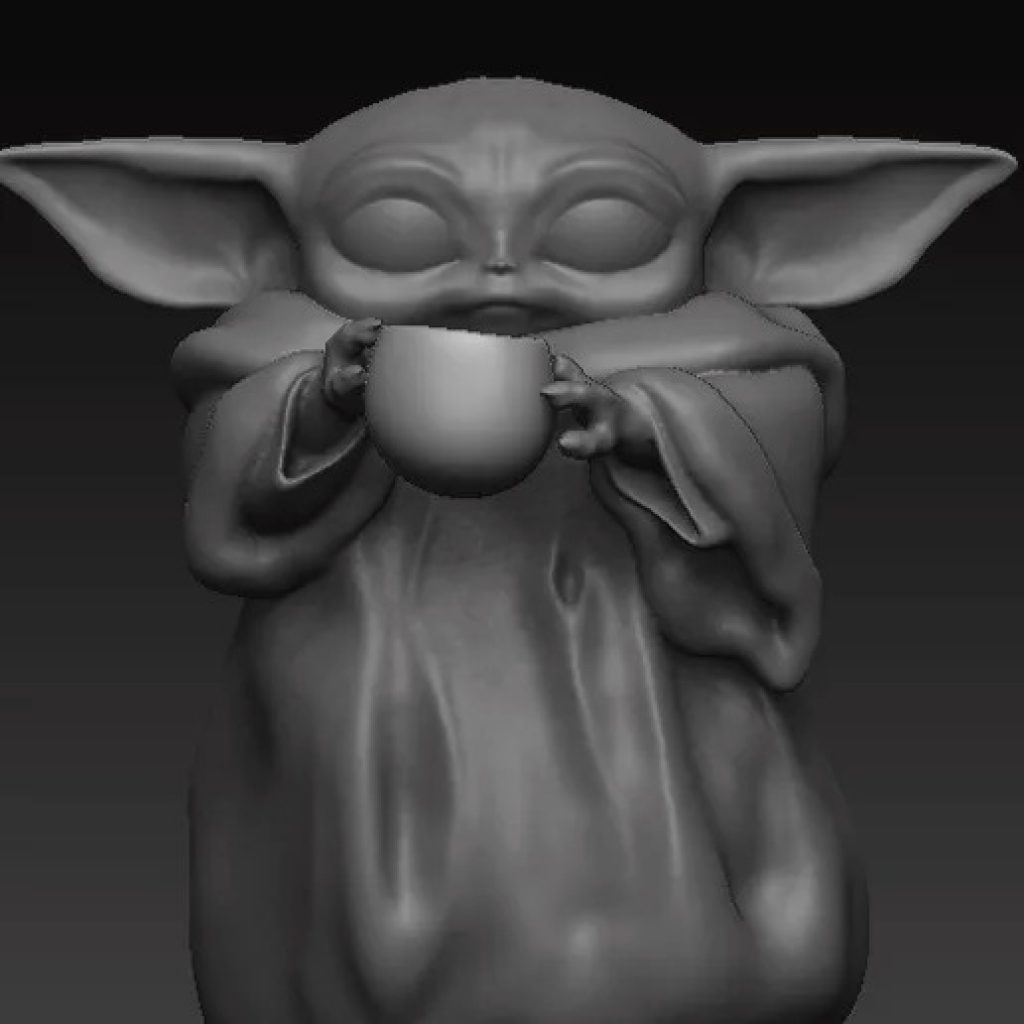 Baby Yoda and Cup