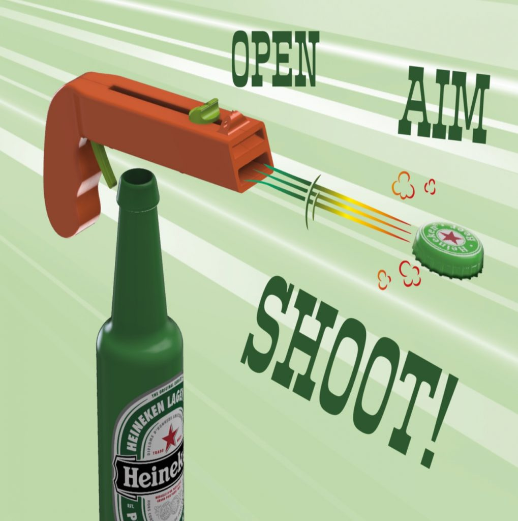 Bottle Opener and Cap GUN make with 3D Printers