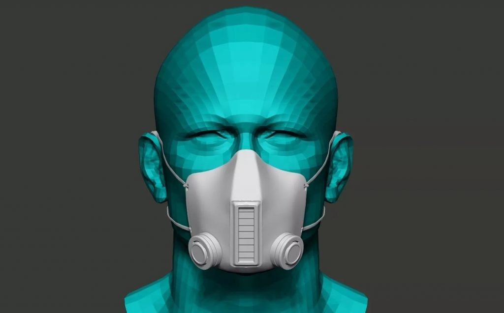 Face Mask Make with 3D Printer