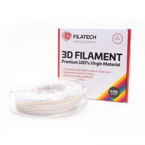 Buy FilaTech FilaFlexible TPE 40D Natural White Filament 0.5Kg 1.75mm