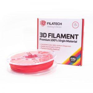Buy FilaTech TPE 40D Red 3D Printer Filament 0.5Kg 1.75mm | Price It 3D